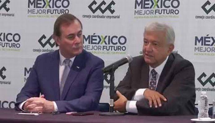 Ante más de 50 líderes de la Cúpula Empresarial encabezados por Juan Pablo Castañón Castañón, el Presidente electo Andrés Manuel López Obrador, expuso diversos proyectos en materia de economía.
