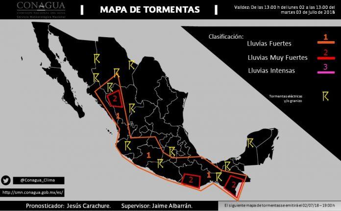 Onda Tropical No. 11 Causará Lluvias en Chiapas
