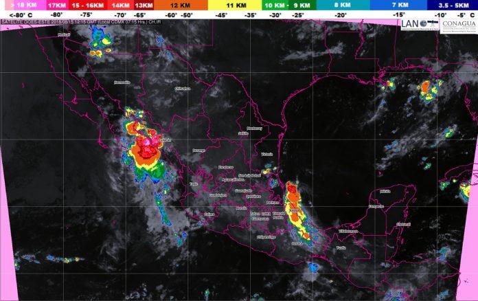 Se Prevén Tormentas Fuertes en Veracruz, Oaxaca y Chiapas