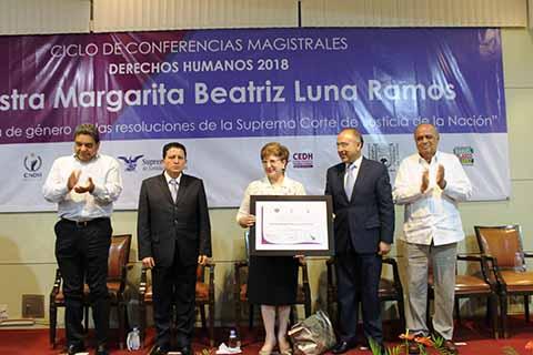Reconocen Destacada Participación de la Ministra Margarita Luna