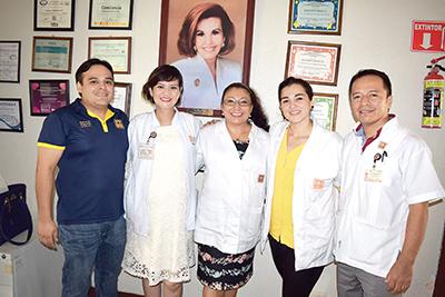 Staff CIJ Tapachula: Miguel Mancera, Ingrid Cueto, Ana Lydia Ovando, Ana Gabriela Gamboa, Freddy Hernández.