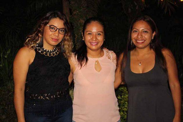 Susy Gurgua, Alma Verdugo, Neldy Muñoz.
