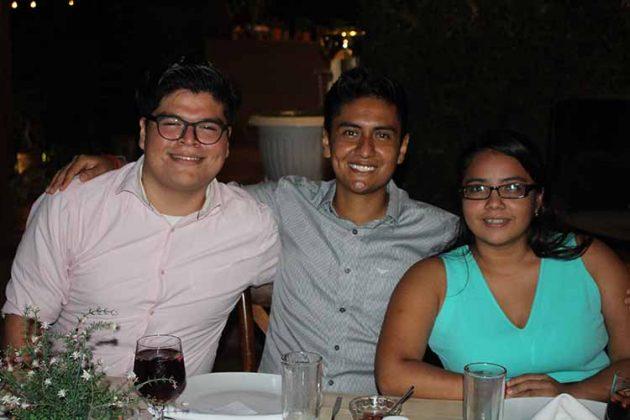 Michelle Guzmán, Erik Coyoy, Dannia de la Cruz.