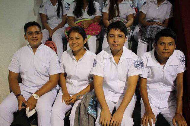 Axel Mathamba, Cinthia Roblero, Iván López, Alexis Morales.