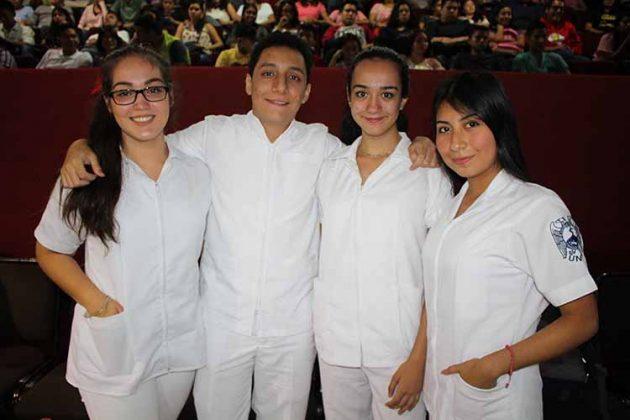 Dania López, Rafael Ortega, Cecilia González, Rocío Montesinos.