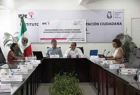Comisión Provisional Encargada del PREP y Conteo Rápido del IEPC, Concluye Funciones