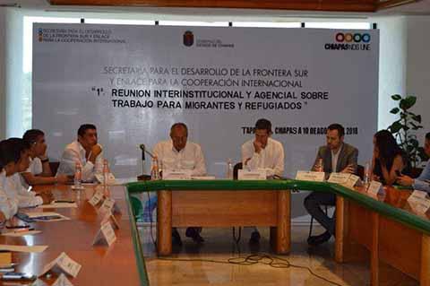 Secretaría de la Frontera Sur y OIM en Acciones Migratorias
