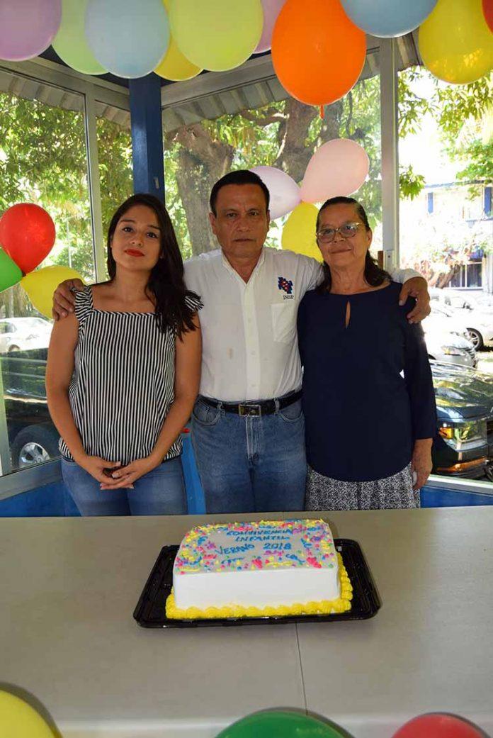 Erika Domínguez, Eleazar Pérez, Carmelita Martínez.