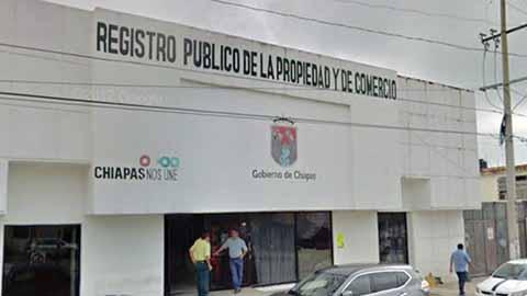 Paralizado el Sistema del Registro Público de la Propiedad y Comercio en Chiapas