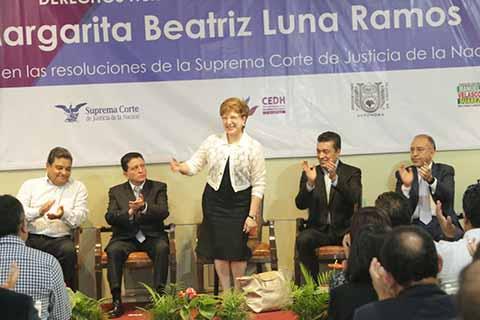 Asiste Rutilio Escandón a Conferencia de la Ministra Margarita Luna