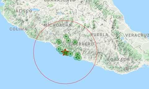 Sismológico Nacional Reporta Sismo de 5.2 Grados en Tecpan, Guerrero