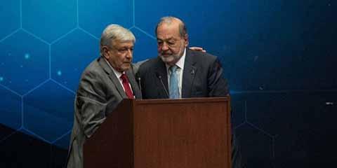 Los Saludos y Abrazos de AMLO y Carlos Slim