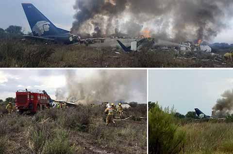 Se Desploma Avión de Aeroméxico en Durango, 103 Pasajeros Resultan Ilesos
