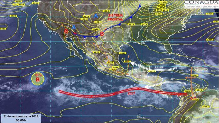 Emiten Alerta por Lluvias Torrenciales en el Pacifico