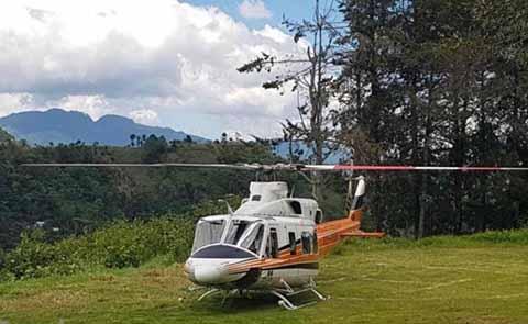 Aterriza de Emergencia Helicóptero en el que Viajaba Manuel Velasco
