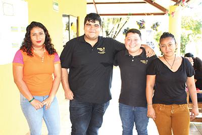 Cristina Cordero, Ángel Escobar, Oscar Ruiz, Julihani Reyes.
