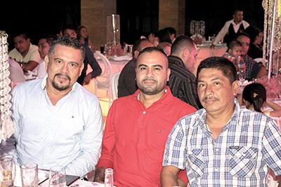 Hugo de la Torre, Rafael Román, Nelson Gómez.