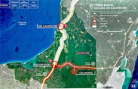 Presuntamente el Tren Maya estará listo para el año 2022.
