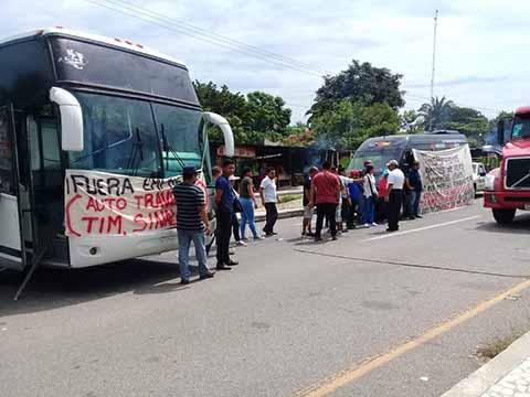 Protestan Contra Transporte Pirata en Tapachula, Huixtla y Motozintla