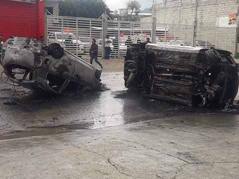 Secretaría de Transportes Condena Hechos Vandálicos en SCLC