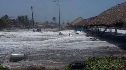 Alertan a la Población a Tomar Precauciones por Mar de Fondo