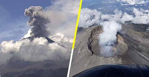 Protección Civil Emite Alerta Amarilla por Explosiones en el Popocatépetl