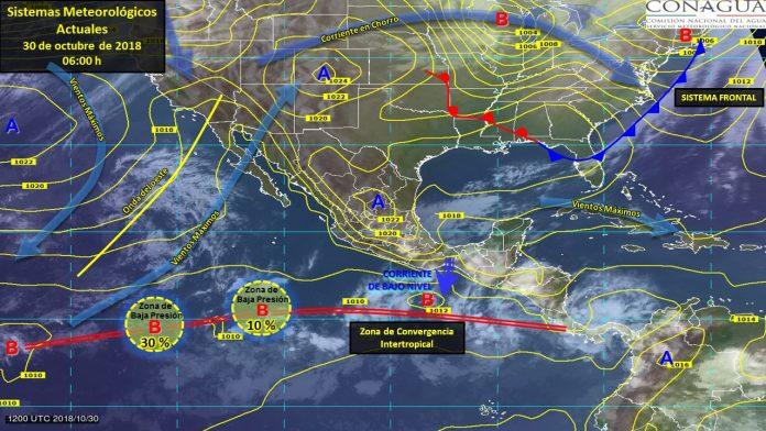 Se Prevén Tormentas en Veracruz, Oaxaca, Tabasco y Chiapas,