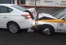 Taxista Causa Accidente por Alcance