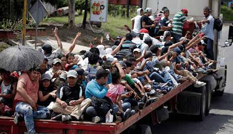 Caravana de Migrantes Llegó a Arriaga
