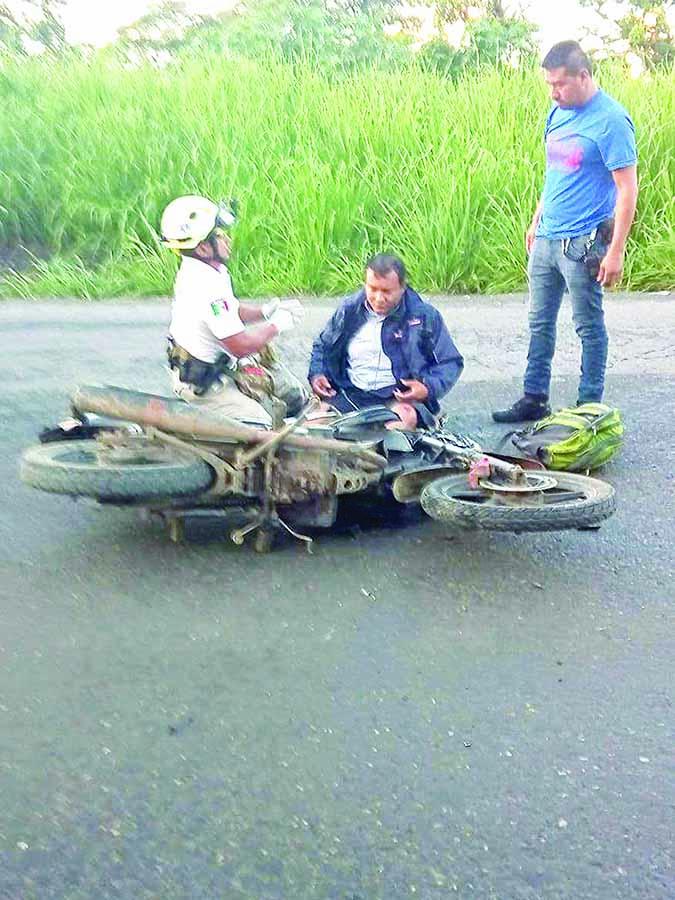 Fue Impactado por un Vehículo que se dio a la Fuga
