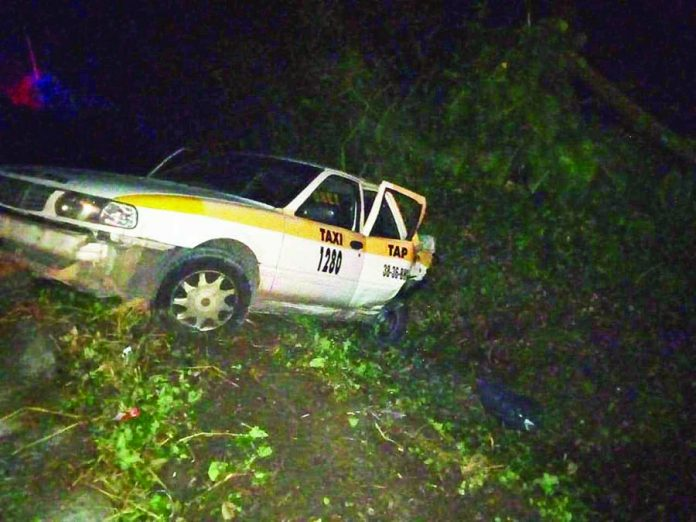 Choque de Taxis Deja dos Lesionados