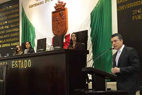 Rutilio Presente en la Instalación de la LXVII Legislatura del Congreso del Estado