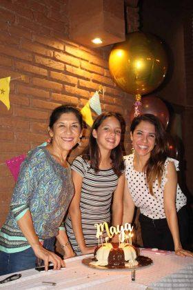 Edith García, Maya Bartlett, Mariana López.