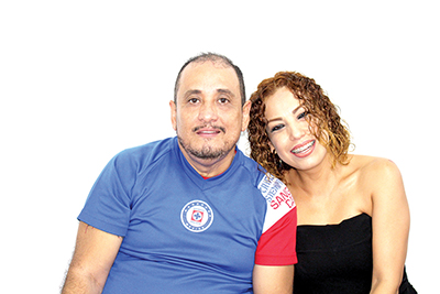 Héctor Suárez, Berenice Rueda.