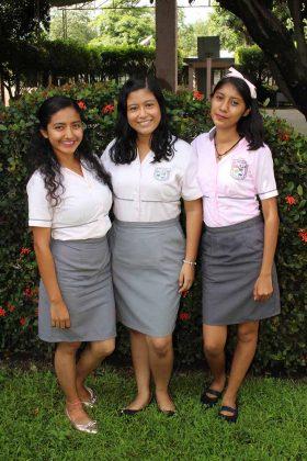 Victoria Rodríguez, Erika Pérez, Cristhel Camacho.