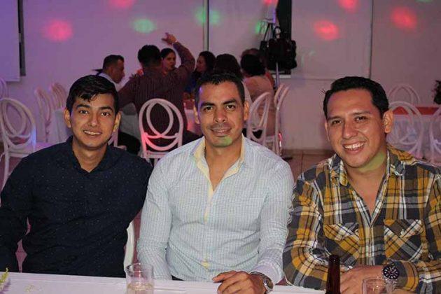 Edgar Moscoso, Jorge Ramírez, Samuel Gutiérrez.