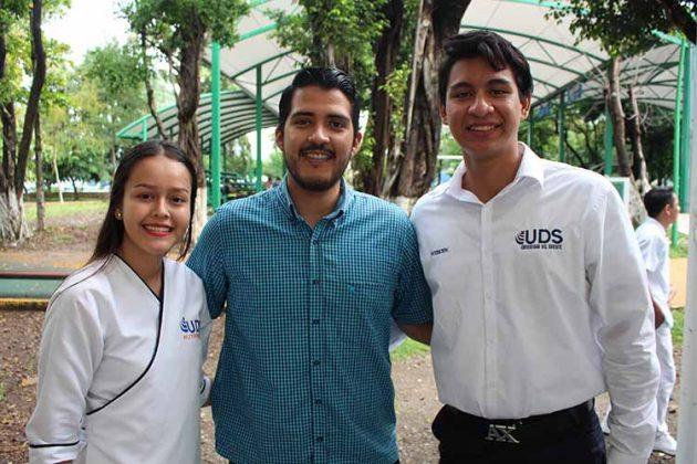 Itzel Avalos, Alejandro Sánchez, Diego Quiñones.