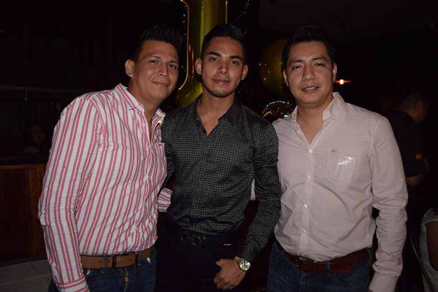 Federico Flores, Diego Vázquez, Jesús López.