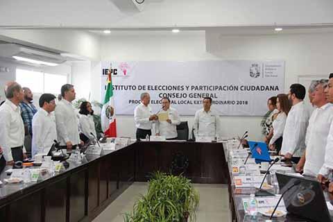 Inicia IEPC Actividades del Proceso Electoral Local Extraordinario 2018