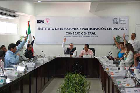 Concluye IEPC Actividades del Proceso Electoral Local Ordinario 2017-2018