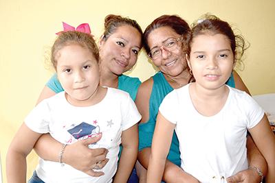 Daniela, Noemí González, Zoé, Hanna Martínez.