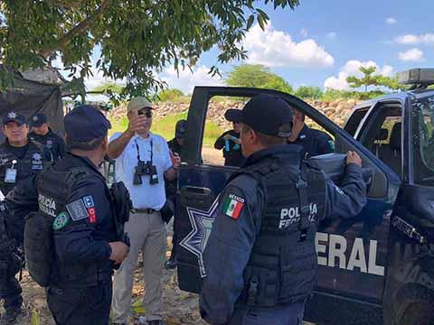 INM y Federales Realizan Operativos en el Río Suchiate, Para Frenar Entrada de Indocumentados