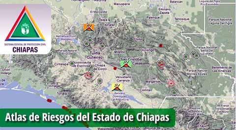 Diariamente se Actualiza el Atlas de Riesgo en Chiapas