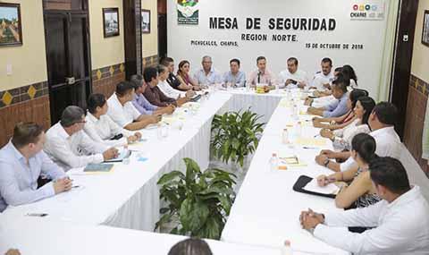 Encabeza Velasco Mesa de Seguridad con Nuevos Ayuntamientos de la Zona Norte