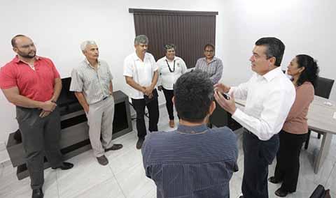 Refrenda Rutilio Escandón Compromiso con Sindicato del Sector Salud