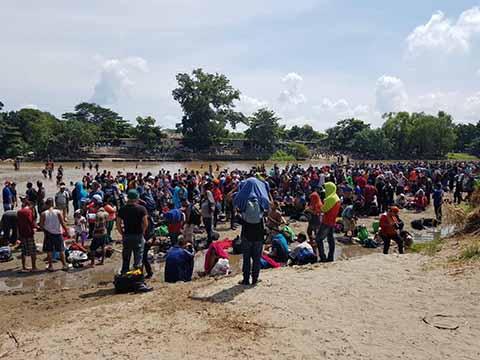 """Por el """"Paso del Cascajo"""" Entraron los Migrantes a México"""