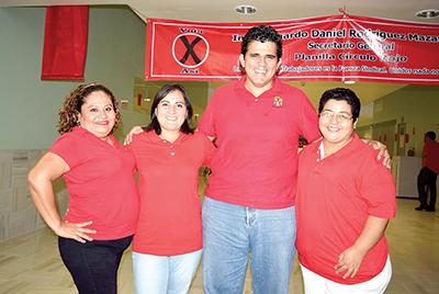 Julissa Osorio, Lourdes Tejillo, Leonardo Rodríguez, Yoana Valencia.