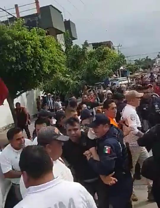 Policías Resultan Heridos Durante Zafarrancho en Suchiate. 1 Detenido