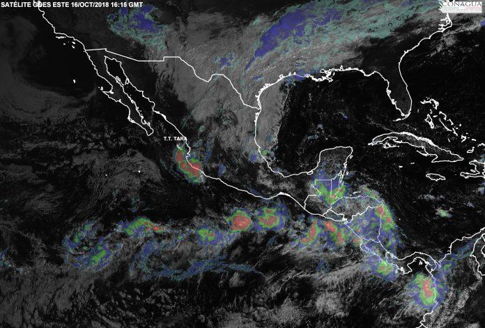 Fin de Semana con Lluvias en Gran Parte de México