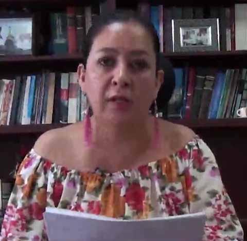 María Itzel Ballinas Barbosa, difundió la postura del Poder Judicial del Estado en torno al caso.